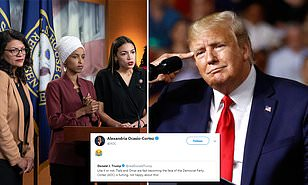 AOC laughs off Trump claim she's 'fuming' that Tlaib, Omar now get more attention