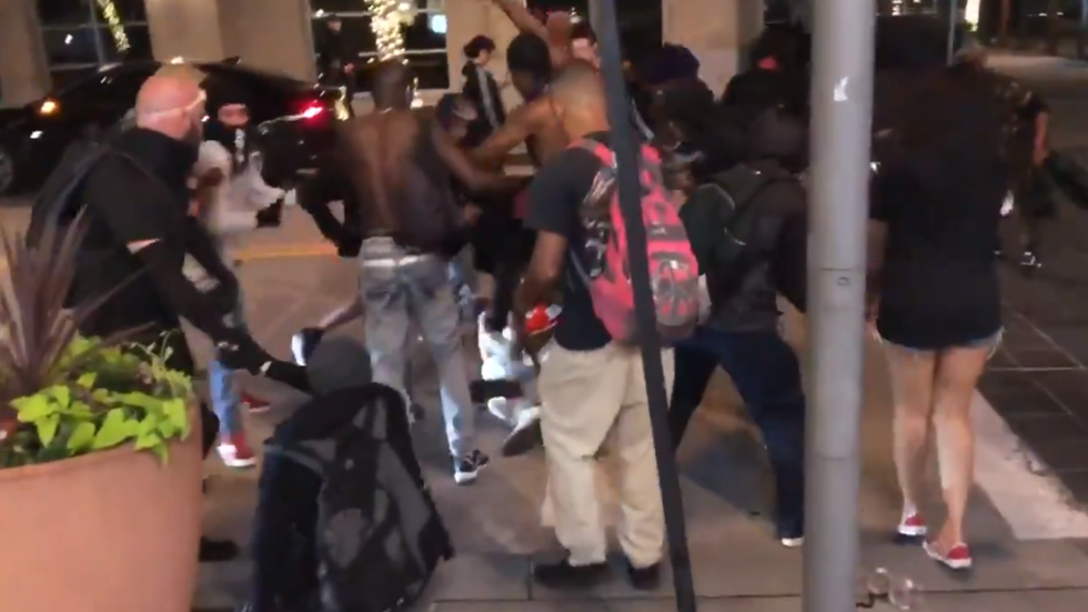 Dallas rioters savagely beat man to a pulp after he confronts them with a SWORD (GRAPHIC VIDEO)