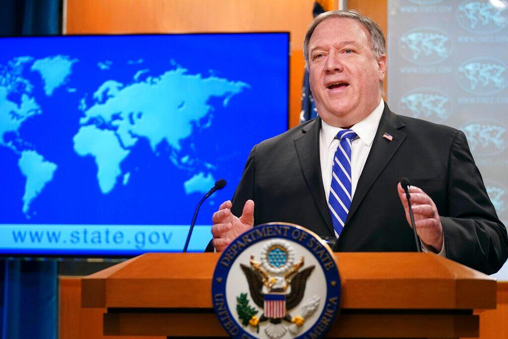 Pompeo hits back against China's 'obscene propaganda' following George Floyd's death