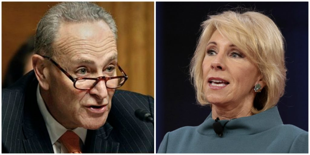 Dept. Of Education'S Devos Nukes 'Cryin' Chuck Schumer' With Truth Bomb About Blocking Covid Relief Funds From Daca Recipients