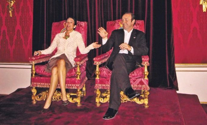 Ghislaine Maxwell And Kevin Spacey Sat On Buckingham Palace Throne After 'Prince Andrew Tour Invite'