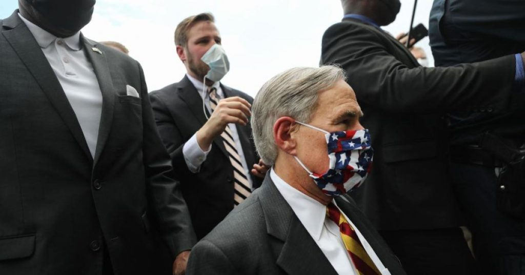 Texas governor orders all state residents to wear masks while in public