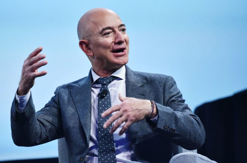Jeff Bezos' wealth shoots off the roof