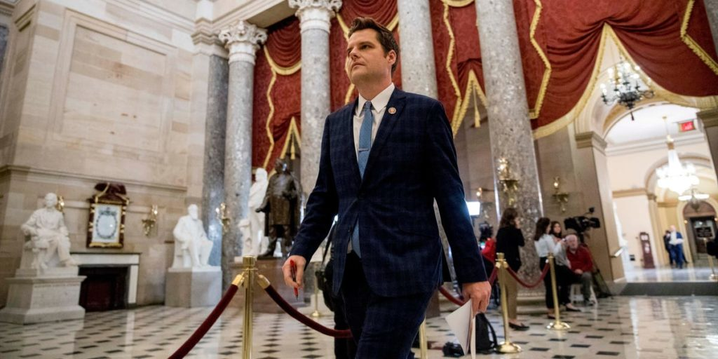 Florida Rep. Matt Gaetz asks the DOJ to launch a criminal investigation into Mark Zuckerberg, accusing the Facebook CEO of lying to Congress