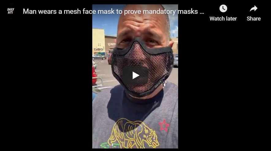 "Mesh ""Anti-mask"" Masks: A New Way of Protesting Mask Mandates"