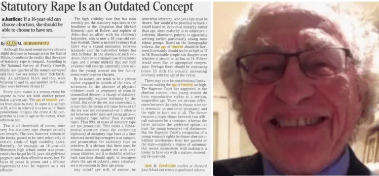 Ads by Revcontent Epstein Lawyer Alan Dershowitz Called for The Lowering of The Age of Consent