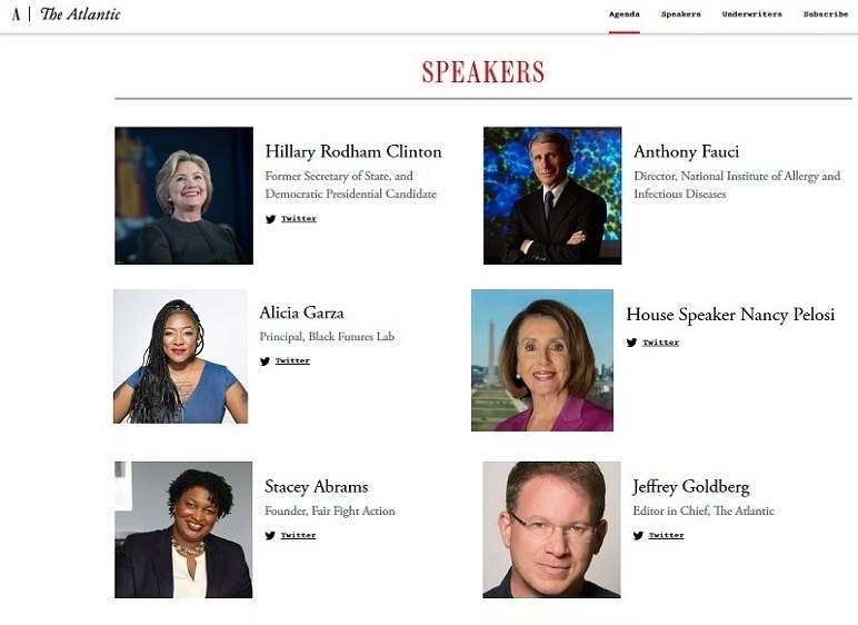 Dr. Fauci outs himself, sharing Atlantic Festival platform with Hillary, Pelosi, Stacey Abrams, and a Marxist BLM co-founder