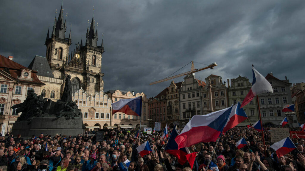 Czech police use tear gas, water cannons as thousands protest Covid-19 rules