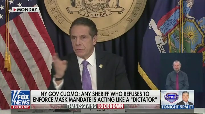 Former ICE Chief Rips Cuomo For Attacking Sheriffs: 'If Anybody Is a Dictator It's Him'