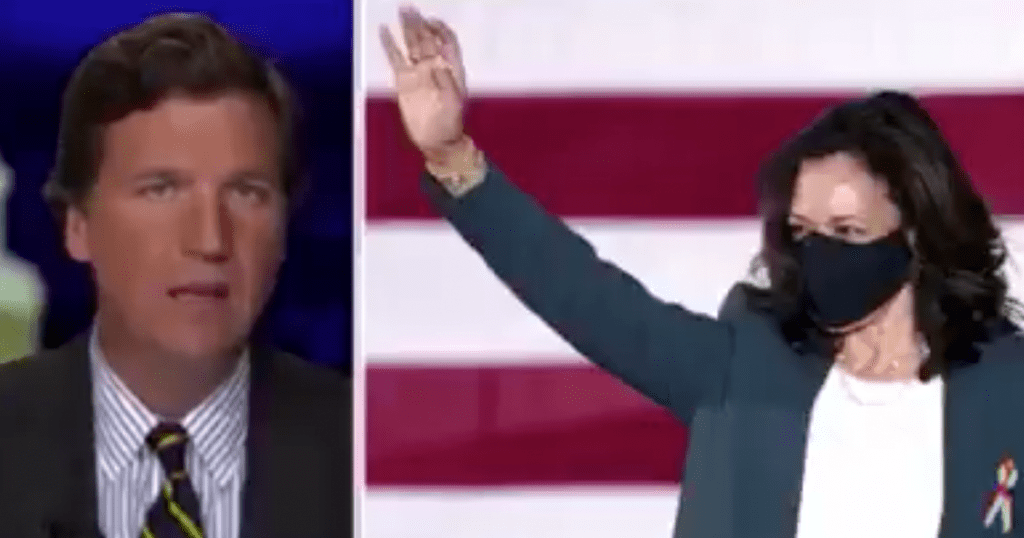 Tucker fires back at Kamala for scolding conservatives who pronounced her name wrong