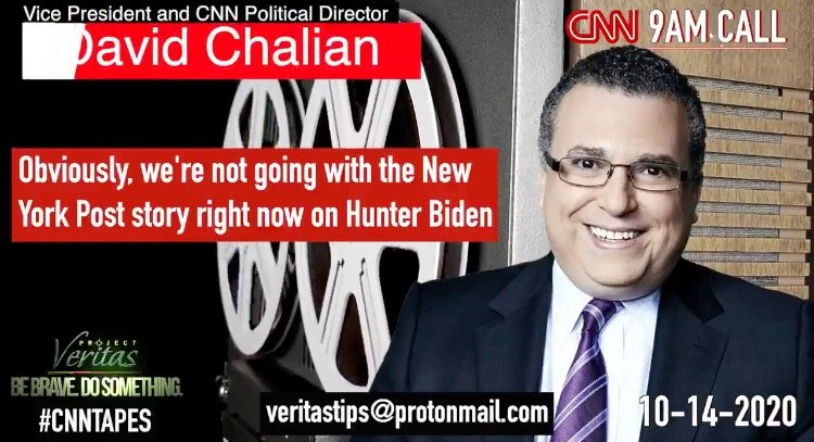 PROJECT VERITAS: CNN Jeff Zucker, Other Execs Spike Coverage of New York Post Hunter Biden Laptop Bombshell (VIDEO) #CNNTapes