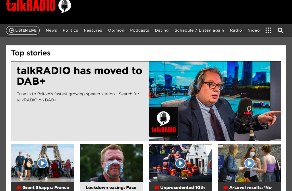 Youtube Takes Down TalkRadio Channel In the UK For Being Critical Of COVID Lockdowns