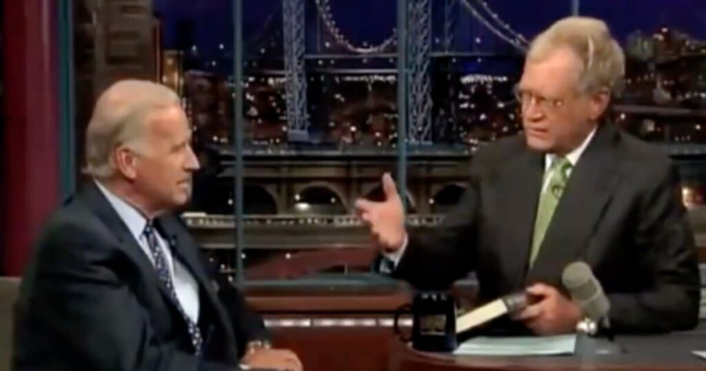 Biden told Letterman he got arrested at 21 for breaching chamber at US Capitol, sitting in VP chair