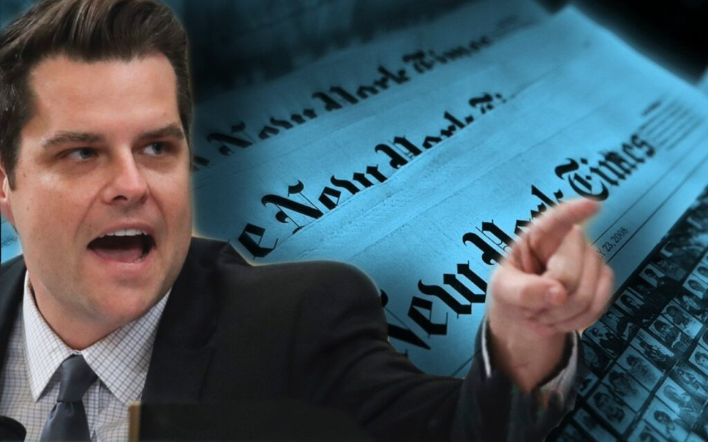 """Allegations Against Me Are as Searing as They Are False"" – Matt Gaetz Responds to Scurrilous Hit Piece by New York Times – Update"