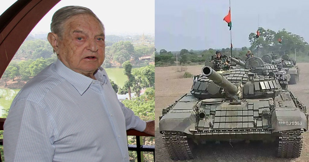 Myanmar Military Seizes George Soros Organization's Bank Accounts, Announces Arrest Warrants After Coup