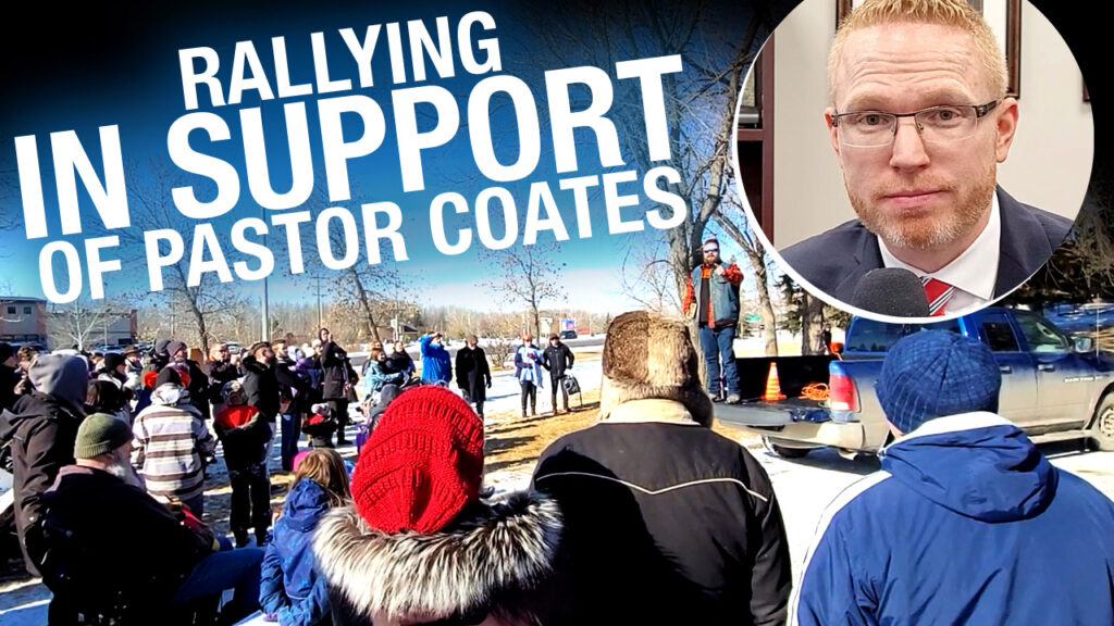 Charter of Rights and the Right Worship of God: Rally for Pastor Coates Attracts a Hater