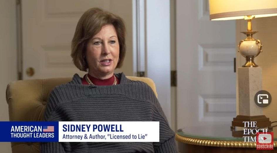 """Supreme Court's Failure – Completes the Implosion of Each of the Three Branches of Government"" – Attorney Sidney Powell Responds to SCOTUS Decision on Election Fraud Cases"