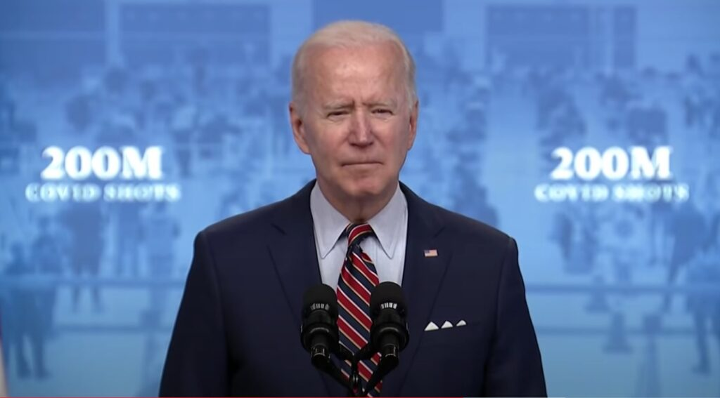 Biden announces it's your 'patriotic duty' to get jabbed with the experimental COVID vaccine
