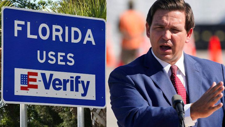 Gov DeSantis Puts Illegal Aliens on Notice by Hanging Signs on All Florida Highways