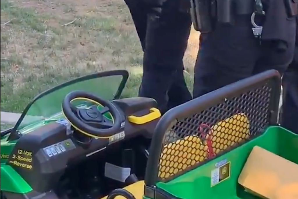 Grab a Tissue: Tempe Police Officers Surprise Little Boy by Replacing His Stolen Toy Tractor