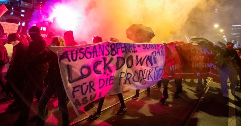 CORONAVIRUSGermany's Domestic Spy Agency is Monitoring Anti-Lockdown Protesters Claims they're trying to subvert the country.