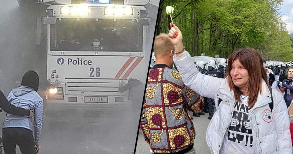 May 1st Freedom Rally in Brussels Belgium: Police Violently Assault Peaceful Protesters Without Warning
