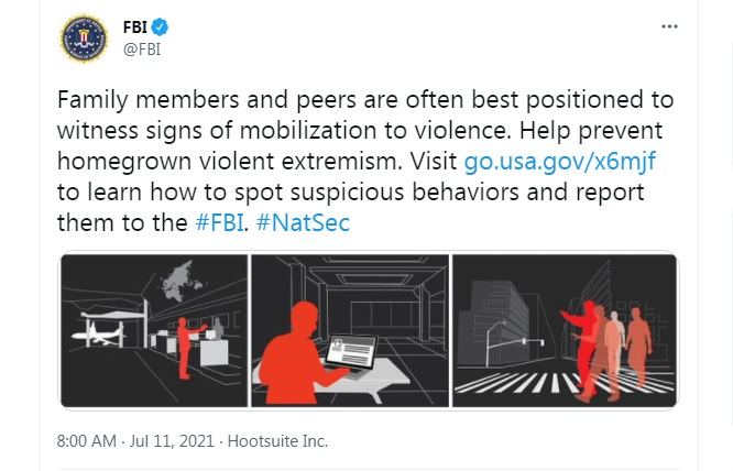 FBI Encourages Americans to Rat On Their Friends And Family to Prevent 'Extremism'