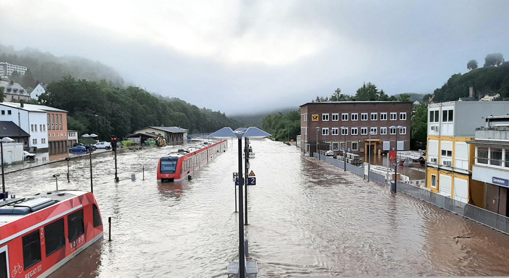 Floods close rail lines in Europe for months or longer