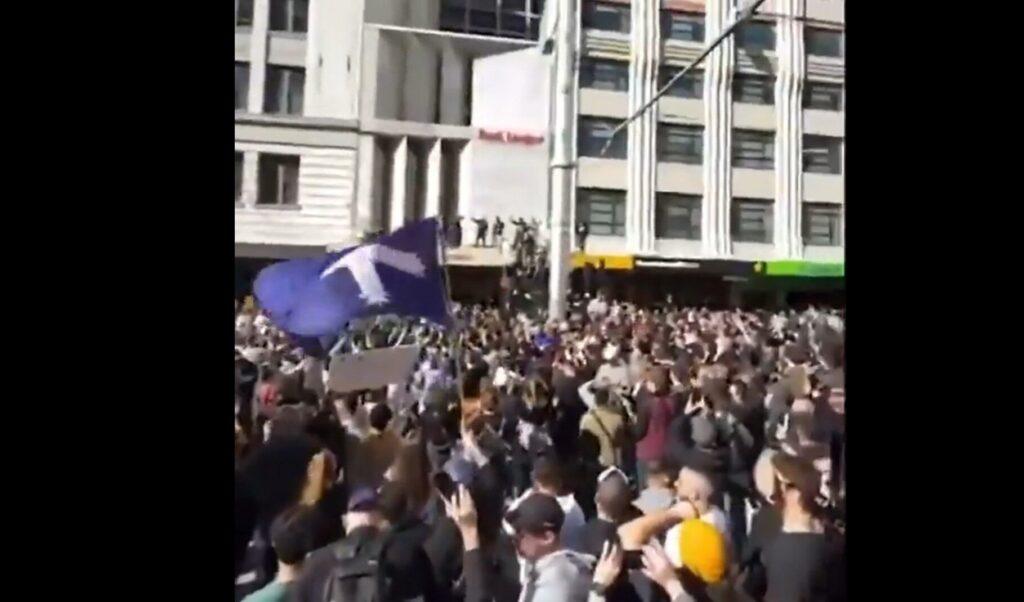 """Freedom, Freedom, Freedom!""- Masses Of Australians March Against COVID Lockdowns"