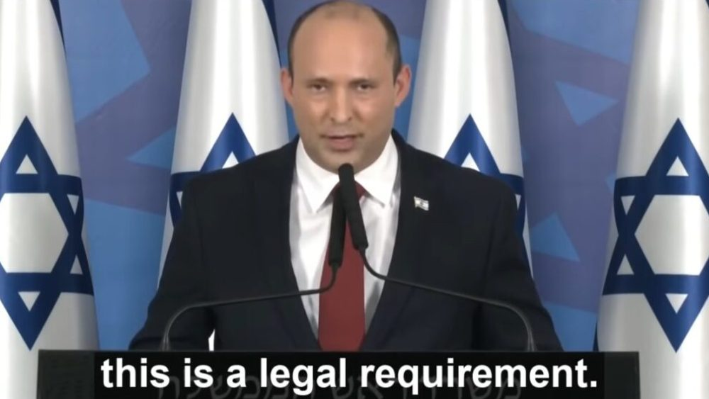 New Israeli Government Goes Full-Orwell, Makes Covid 'Vaccines' Compulsory for All Citizens Over 12