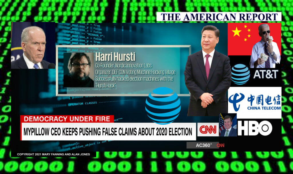 AT&T's CNN Dismisses China's Hack Of 2020 Election As 'BIG LIE', Attacks Mike Lindell, Yet CNN's 'Expert' Harri Hursti In AT&T's HBO 2020 'Kill Chain' Documentary Proved US Voting Machines Hackable, Connected To Internet - The American Report