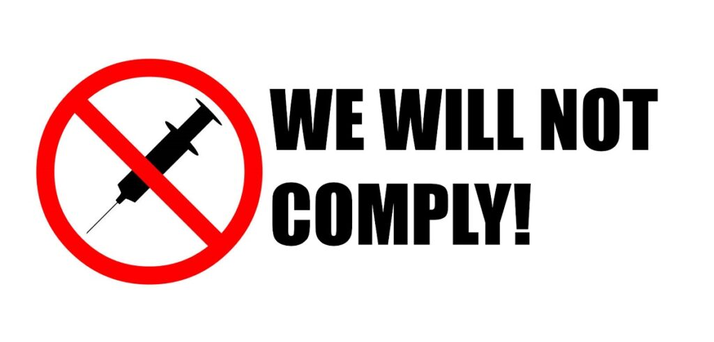 We Will Not Comply: A Campaign Against Medical Tyranny