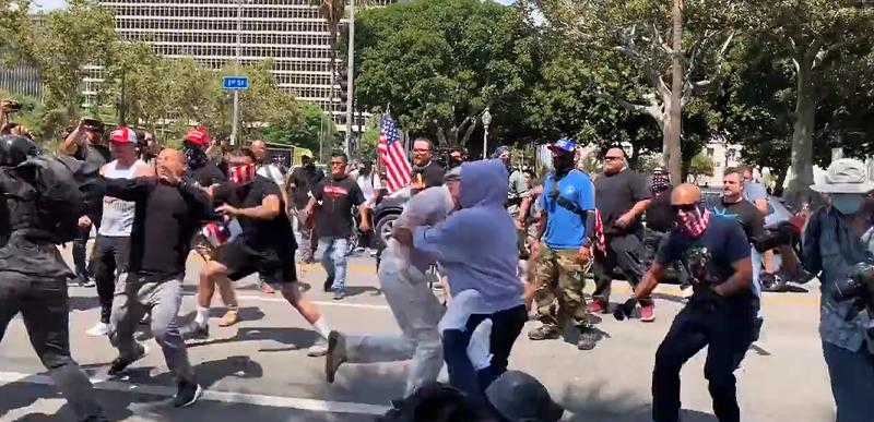 'LOTS OF BLOOD': Antifa INVADE anti-mandate rally, STREET FIGHTS, punching, kicking, STABBING, ambulances ensue!