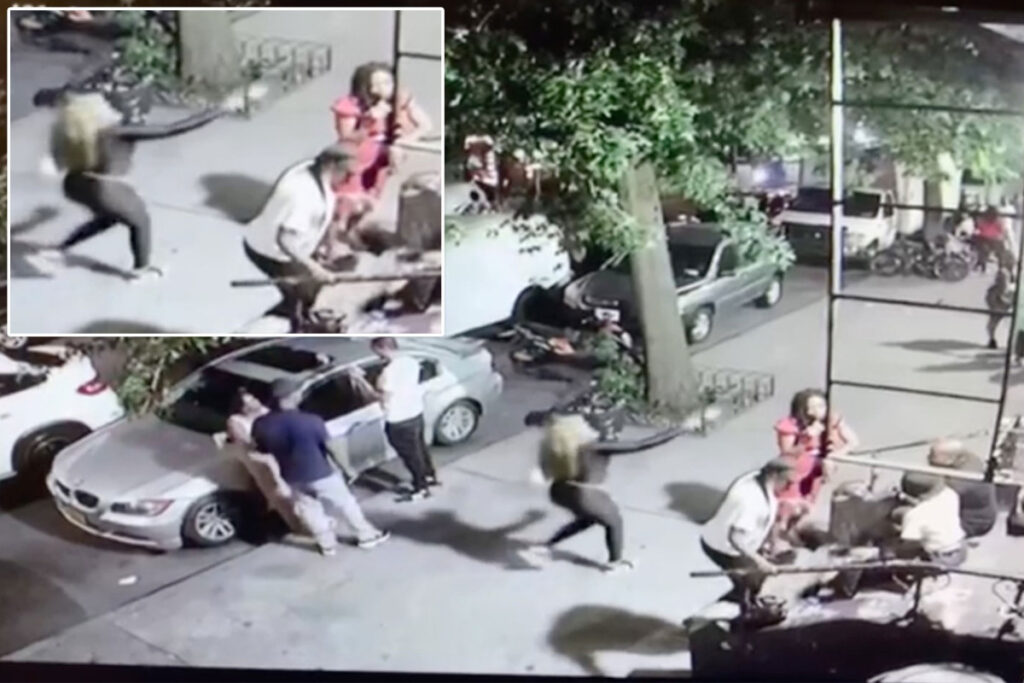 Disturbing video shows woman casually shoot victim dead on crowded NYC street