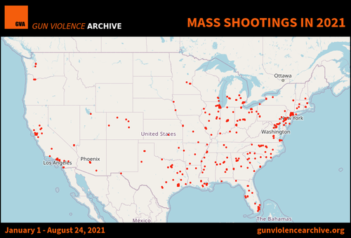 American Mass Shootings At Record High, Average 2 Per Day