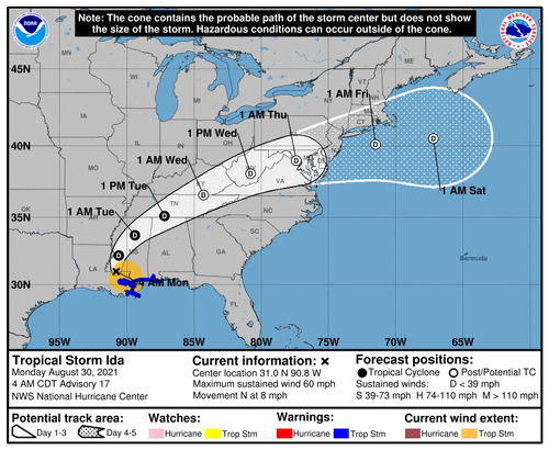 '911' System Offline, 1 Million Plus Without Power After Hurricane Ida Slams Gulf Coast