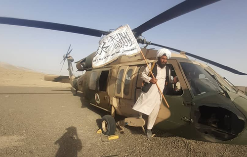 Taliban Seen Flying Captured Military Helicopters Over Afghanistan