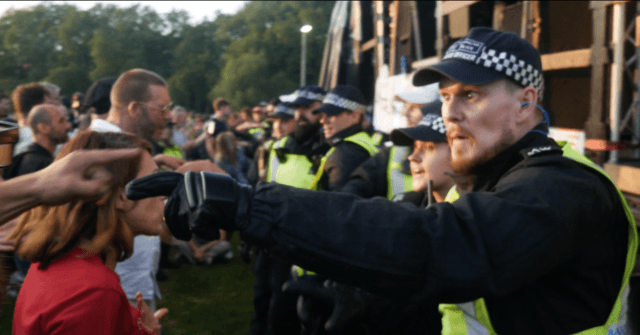 Exclusive Video: London's Covid Cops Shut Down Peaceful Protest Against Vaccine Passports