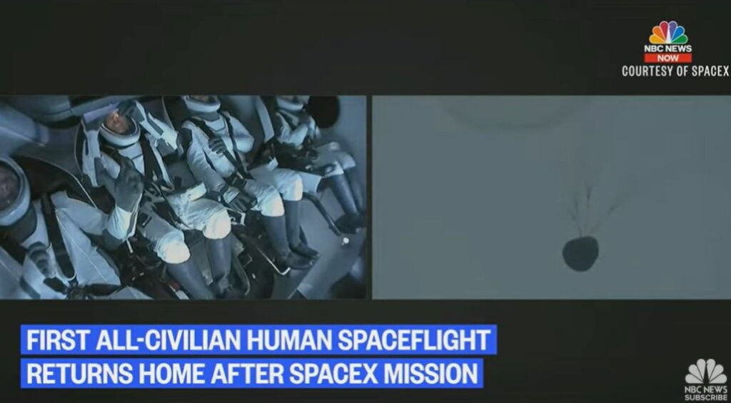 SpaceX's First All-Citizen Space Crew Returns to Earth in First Atlantic Splashdown in 50 Years
