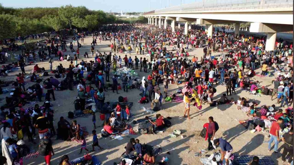Mayorkas Won't Admit Border Crisis Exists While Standing in Overrun Del Rio