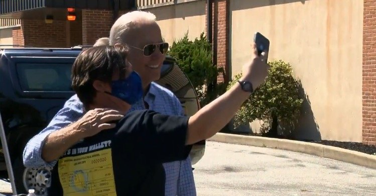 Biden Laughs and Takes Selfies as Taliban Holds Planes Filled with Americans Hostage (VIDEO)