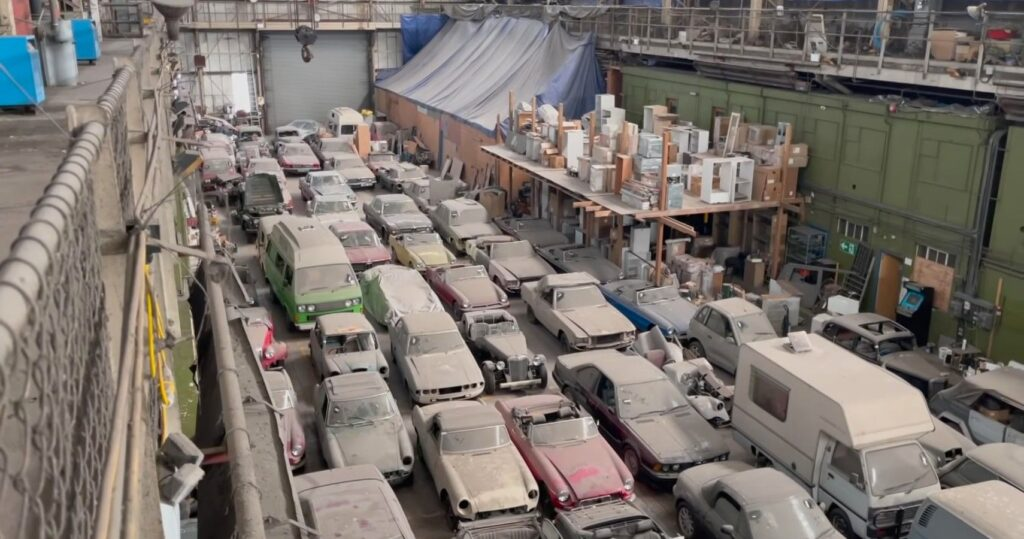Check Out This Ridiculously Huge 175-Car Barn Find In London