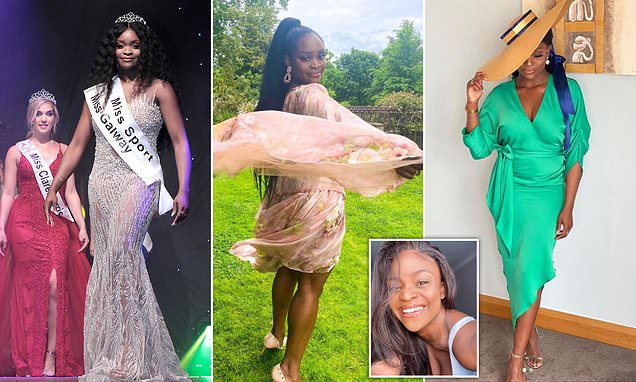 Frontline worker, 26, becomes the first black woman to be crowned Miss Ireland in the competition's 74-year history after arriving as an asylum seeker aged 7 from South Africa