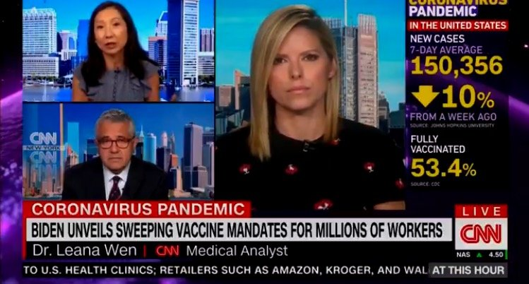 Doctor on CNN: Americans Who Wish to Have Privileges Need to Get Vaccinated: 'Having the Right to Travel Interstate, it's Not a Constitutional Right' (VIDEO)