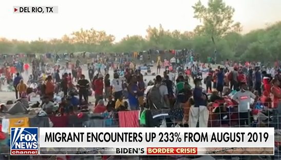 INVASION: Overhead Drone Footage Shows 8,000+ Illegal Aliens Amassed at America's Border