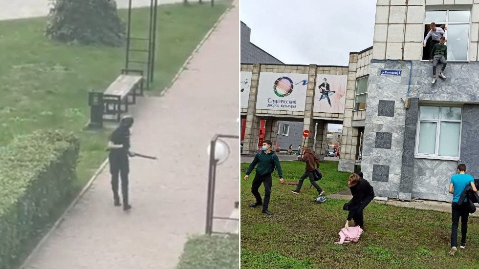 SIX KILLED after shooter opens fire at Russian university; shocking footage shows students jumping from windows in Perm (VIDEOS)