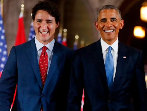 Obama Publicly Endorses Justin Trudeau Ahead Of Canada's Upcoming Election
