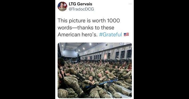 It could be a problem that a U.S. three-star general can't tell the difference between American and British troops (not to mention the spelling error)