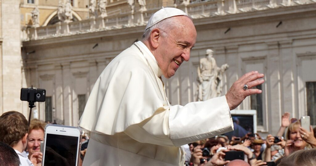 Pope Mocked For Demanding Church Be 'Open Place Where Everyone Feels Welcome' As Vaccine Passport Protests Rage Outside