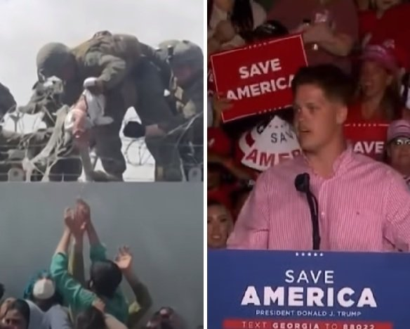 Lance Corporal Hunter Clark – Who Rescued Baby in Kabul – Is Under Investigation by Department of Defense for Speaking at Trump Rally Out of Uniform